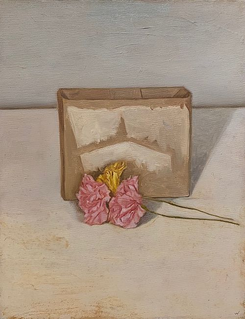 0820g Still life carnations 1978 45x35.5cm oil on canvas $3,200.jpg